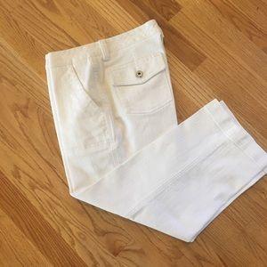 Chico's White Jordy CP Capri Jeans